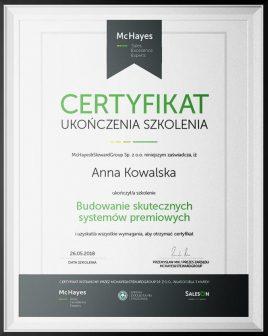 budowanie systemow premiowych certyfikat